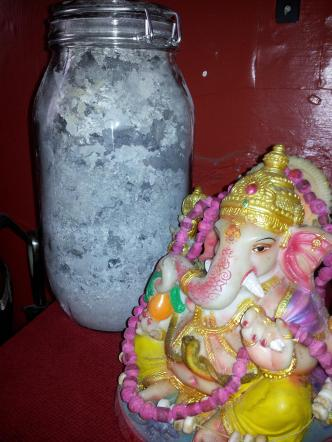 Final Red Magick spirit jar filled with ash from our rituals. Jai Ganesha!