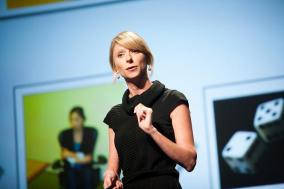 "Social Psychologist Amy Cuddy, who studied the effects of ""power poses"""