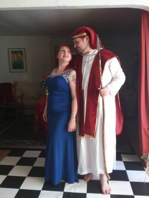 As promised, two weeks later the author performed a celebration with his Priestess in Glastonbury