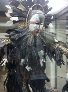 Ndungu spirit costume made by the Kongo people, Central Africa