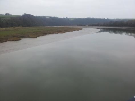 Turbulent river made still
