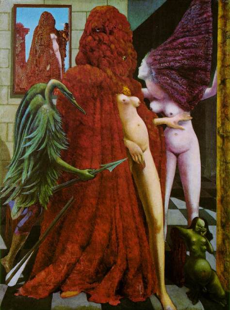 Max Ernst The Robing of the Bride 1940